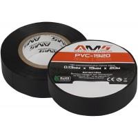 Изолента AMS PVC-1920 (черная, матовая, 20м)